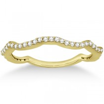 Contour Eternity Diamond Wedding Band 14k Yellow Gold Setting (0.25ct)