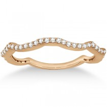 Contour Eternity Diamond Wedding Band 18k Rose Gold Setting (0.25ct)