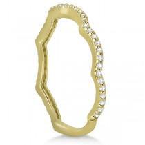 Contour Eternity Diamond Wedding Band 18k Yellow Gold Setting (0.25ct)