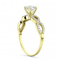 Twisted Infinity Diamond Engagement Ring Setting 14K Yellow Gold (0.21ct)