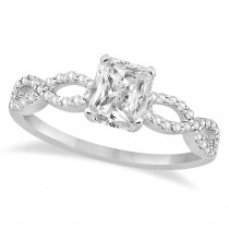 Infinity Radiant-Cut Lab Grown Diamond Engagement Ring 14k White Gold (1.00ct)