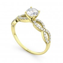 Twisted Infinity Lab Grown Diamond Engagement Ring Setting 18K Yellow Gold (0.21ct)