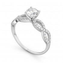 Twisted Infinity Lab Grown Diamond Engagement Ring Setting Palladium (0.21ct)