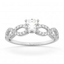 Twisted Infinity Lab Grown Diamond Engagement Ring Setting Platinum (0.21ct)