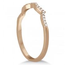 Infinity Twisted Lab Grown Diamond Matching Bridal Set in 14K Rose Gold (0.34ct)