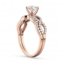 Infinity Twisted Lab Grown Diamond Matching Bridal Set in 18K Rose Gold (0.34ct)