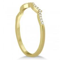 Infinity Twisted Round Diamond Ruby Bridal Set 14k Yellow Gold (2.13ct)