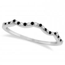 Black Diamond & Diamond Infinity Style Bridal Set Platinum 1.10ct