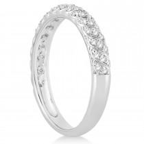 Diamond Swirl Wedding Band Setting 14k White Gold 0.24ct