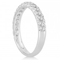 Diamond Swirl Wedding Band Platinum 0.24ct