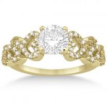 Heart Shape Diamond Engagement & Wedding Ring 18k Yellow Gold (0.50ct)