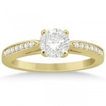 Petite Half-Eternity Diamond Engagement Ring 14k Yellow Gold (0.14ct)
