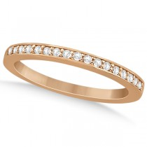 Petite Half-Eternity Diamond Wedding Band in 14k Rose Gold (0.17ct)