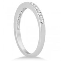 Petite Half-Eternity Diamond Wedding Band in 14k White Gold (0.17ct)