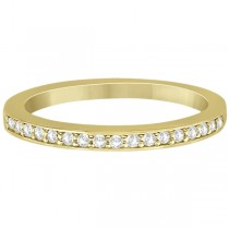 Petite Half-Eternity Diamond Wedding Band in 14k Yellow Gold (0.17ct)