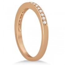 Petite Half-Eternity Diamond Wedding Band in 18k Rose Gold (0.17ct)