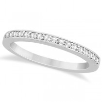 Petite Half-Eternity Diamond Wedding Band in 18k White Gold (0.17ct)