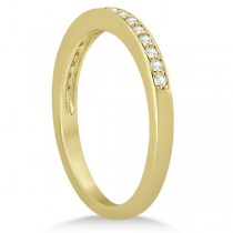 Petite Half-Eternity Diamond Wedding Band in 18k Yellow Gold (0.17ct)