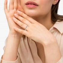 Garnet & Diamond Wedding Band 14k White Gold 0.29ct