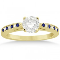 Tanzanite & Diamond Engagement Ring 18k Yellow Gold 0.26ct