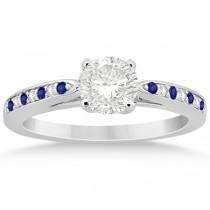Tanzanite & Diamond Engagement Ring Set 14k White Gold (0.55ct)