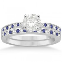 Tanzanite & Diamond Engagement Ring Set 18k White Gold (0.55ct)
