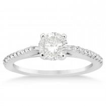 Diamond Accented Bridal Set 14k White Gold 0.37ct