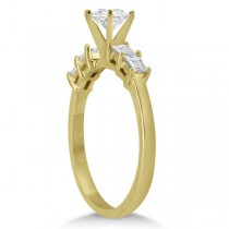Five Stone Diamond Baguette Engagement Ring 18K Yellow Gold (0.36ct)