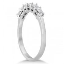 Baguette Diamond Engagement Ring & Wedding Band 18K White Gold (0.90ct)