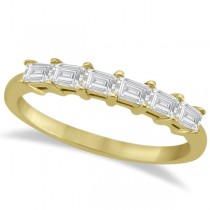 Baguette Diamond Engagement Ring & Wedding Band 18K Yellow Gold (0.90ct)