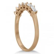 Baguette Diamond Ring Wedding Band for Women 18K Rose Gold (0.54ct)