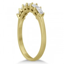 Baguette Diamond Ring Wedding Band for Women 18K Yellow Gold (0.54ct)