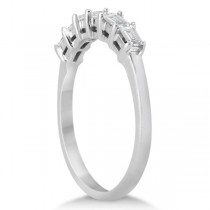 Baguette Diamond Ring Wedding Band for Women platinum (0.54ct)
