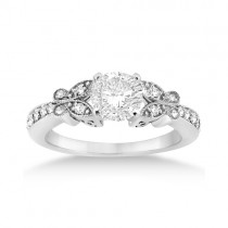 Butterfly Lab Grown Diamond Engagement Ring Setting Platinum (0.20ct)