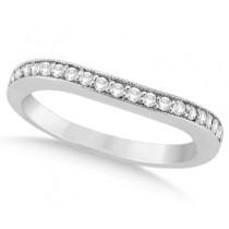 Round Diamond Butterfly Design Bridal Ring Set Palladium (0.76ct)