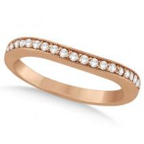 Round Diamond Butterfly Design Bridal Ring Set 18k Rose Gold (1.70ct)