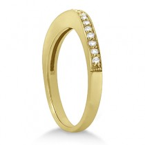 Curved Diamond Wedding Band 14k Yellow Gold (0.22ct)
