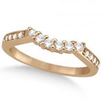 Floral Diamond Engagement Ring & Wedding Band 14k Rose Gold (0.56ct)
