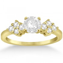 Modern Diamond Cluster Engagement Ring 18k Yellow Gold (0.24ct)