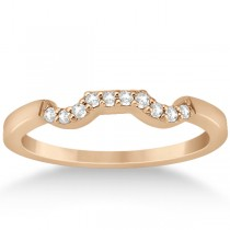 Modern Contour Diamond Wedding Band for Women 14k Rose Gold (0.10ct)