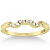 Modern Contour Diamond Wedding Band for Women 18k Yellow Gold (0.10ct)