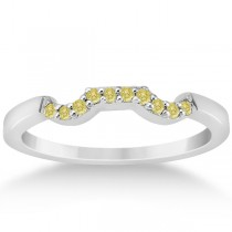 Yellow Diamond Engagement Ring & Wedding Band in Palladium (0.34ct)