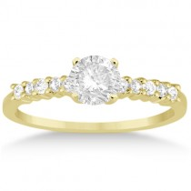 Petite Diamond Engagement Ring Setting 18k Yellow Gold (0.15ct)
