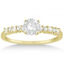 Petite Diamond Engagement Ring Setting 18k Yellow Gold (0.15ct)