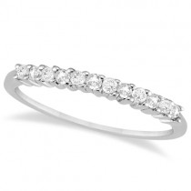 Petite Diamond Wedding Ring Band 14k White Gold (0.20ct)