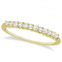 Petite Diamond Wedding Ring Band 14k Yellow Gold (0.20ct)