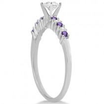 Petite Diamond & Amethyst Bridal Set 18k White Gold (0.35ct)