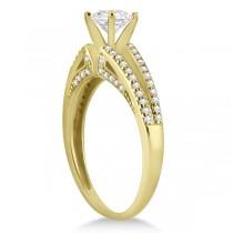 Modern Split Shank Diamond Engagement Ring 18k Yellow Gold (0.34ct)