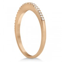 Modern Semi-Eternity Diamond Wedding Band 14k Rose Gold (0.17ct)