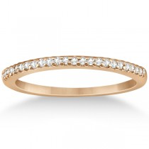 Modern Semi-Eternity Diamond Wedding Band 18k Rose Gold (0.17ct)